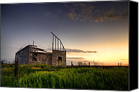Wide Canvas Prints - Fallen Barn Canvas Print by Thomas Zimmerman