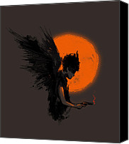 Dark Canvas Prints - Fallen one Canvas Print by Budi Satria Kwan