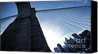 City Of Bridges Canvas Prints - Falling Lines - Brooklyn Bridge Canvas Print by Thomas Splietker