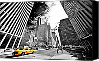 Empire Photo Canvas Prints - Falling Lines - Rockefeller Center Canvas Print by Thomas Splietker