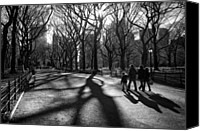 Award Winning Canvas Prints - Family at Central Park in New York City Canvas Print by Ilker Goksen