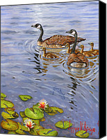 Geese Canvas Prints - Family Outing Canvas Print by Jeff Brimley