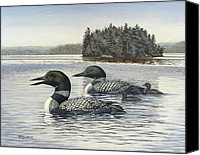 Bird Family Canvas Prints - Family Outing Canvas Print by Richard De Wolfe