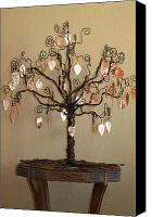 Copper Sculpture Canvas Prints - Family Tree Canvas Print by Shawna Dockery