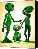 Ufo Canvas Prints - Family Vacation Canvas Print by Bob Orsillo