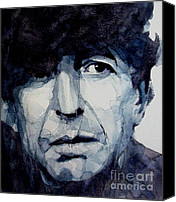 Singer Songwriter Painting Canvas Prints - Famous Blue raincoat Canvas Print by Paul Lovering