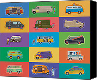 Kombi Canvas Prints - Famous Vans Canvas Print by Mitch Frey