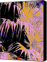 Fam Canvas Prints - Fan Palm Layer 8 Canvas Print by Nina Kaye