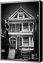 Painted Ladies Canvas Prints - Fancy House lV - black and white Canvas Print by Hideaki Sakurai
