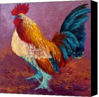 Rooster Canvas Prints - Fancy Pants - Rooster Canvas Print by Marion Rose