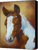 Equine Pastels Canvas Prints - Fancy Portrait Canvas Print by Margaret Stockdale