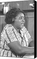 Blacks Canvas Prints - Fannie Lou Hamer 1917-1977 Canvas Print by Everett