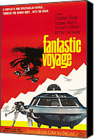 1960s Poster Art Canvas Prints - Fantastic Voyage, Poster, 1966 Canvas Print by Everett