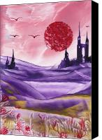 Fantasy Art Canvas Prints - Fantasy Castle Series 6 Canvas Print by Ruth Koller