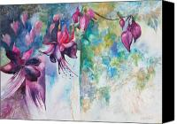 Fuchsia Canvas Prints - Fantasy Fuchsia Canvas Print by Kate Bedell