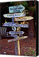 Traveling Canvas Prints - Fantasy signs Canvas Print by Garry Gay