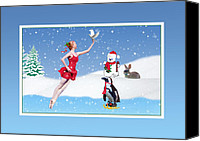 Ballet Canvas Prints - Fantasy Winterland Canvas Print by Delores Knowles
