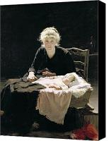 Crib Painting Canvas Prints - Fantine Canvas Print by Margaret Hall