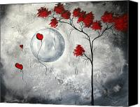 Crimson Canvas Prints - Far Side of the Moon by MADART Canvas Print by Megan Duncanson