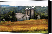 Pennsylvania Barns Canvas Prints - Farm - Barn - Home on the range Canvas Print by Mike Savad