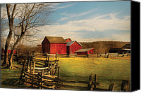 Fences Canvas Prints - Farm - Barn - I bought the farm Canvas Print by Mike Savad