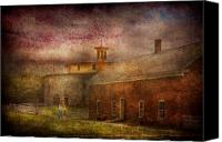 Shaker Canvas Prints - Farm - Barn - Shaker Barn  Canvas Print by Mike Savad