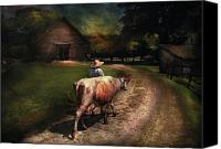 Got Canvas Prints - Farm - Cow - Going to milk Mabel Canvas Print by Mike Savad