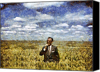 Rural Scenes Mixed Media Canvas Prints - Farm Life - A Good Crop Canvas Print by Nikki Marie Smith