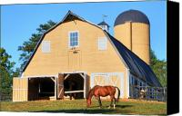 Old Photo Canvas Prints - Farm Canvas Print by Mitch Cat
