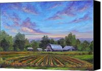 Featured Canvas Prints - Farm on Glenn Bridge Canvas Print by Jeff Pittman