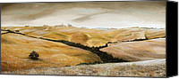 Rural Scenes Canvas Prints - Farm on Hill - Tuscany Canvas Print by Trevor Neal