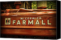 Kenny Canvas Prints - Farmall Tractor Canvas Print by Kenny Francis