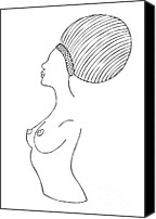 Nude Drawings Canvas Prints - Fashion drawing Canvas Print by Frank Tschakert
