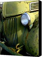Old Trucks Canvas Prints - Fasten Your Seat Belts Canvas Print by Sandy Rubini