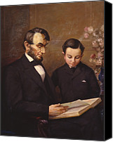 Abraham Lincoln Photo Canvas Prints - Father and Son Canvas Print by Lewis A Ramsey