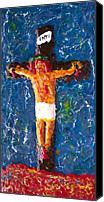 Cross Reliefs Canvas Prints - Father  Forgive  Them Canvas Print by Carl Deaville