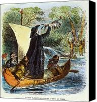 Indian Canoe Canvas Prints - Father Marquette, 1673 Canvas Print by Granger