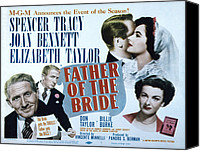 1950 Movies Canvas Prints - Father Of The Bride, Spencer Tracy Canvas Print by Everett