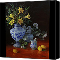 Blue And White Porcelain Canvas Prints - Favorites Canvas Print by Diane Reeves