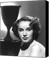 1930s Hairstyles Canvas Prints - Fay Wray, Columbia Pictures, Ca. Late Canvas Print by Everett