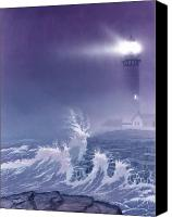 Lighthouse Canvas Prints - Fearless - Psalm 27 Canvas Print by Cliff Hawley