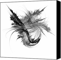 Digital Canvas Prints - Feathers and Thread Canvas Print by Scott Norris