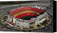 Redskins Canvas Prints - Fedex Field Redskins Stadium Canvas Print by Steve Monell