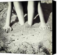 Hands Canvas Prints - Feet In The Sand Canvas Print by Joana Kruse