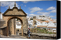 Ronda Canvas Prints - Felipe V Arch in Ronda Canvas Print by Artur Bogacki