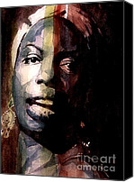 Nina Simone Canvas Prints - Felling Good  Canvas Print by Paul Lovering