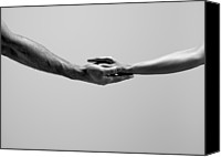 Unity Canvas Prints - Female And Male Hands Canvas Print by Jonathan Knowles