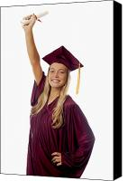 Success Photo Canvas Prints - Female Graduate Canvas Print by Tomas del Amo