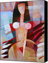 Woman Art Canvas Prints - Female Impression Canvas Print by Lutz Baar