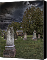 Spooky Digital Art Canvas Prints - Femme Osage Cemetery Canvas Print by Bill Tiepelman